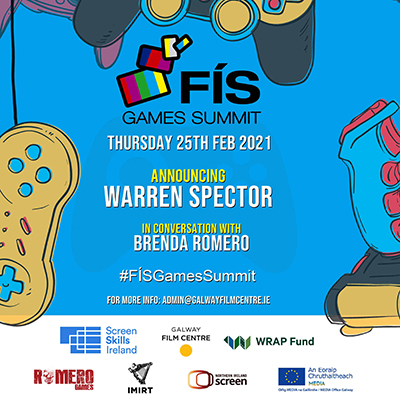 Fís Games Summit 2021 announce line-up with Warren Spector